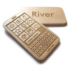 wooden teether - The only kind of cell phone that should get anywhere near a baby.
