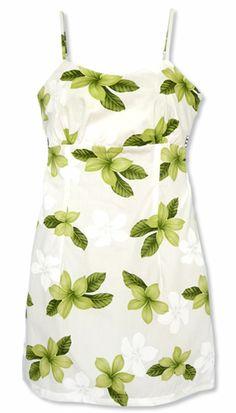 Delight Green Spaghetti Hawaiian Dress
