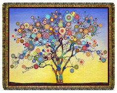 Sunrise Mandala Fruit Tree by Paul Heussenstamm Mandala Drawing, Mandala Art, Hippie Bedding, Shape Art, Mandala Tapestry, Colouring Pages, Tree Art, Painting Inspiration, Vintage World Maps