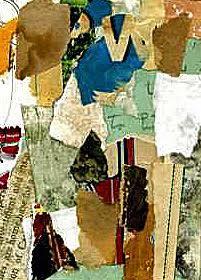 blue W collage by Donnas Schaeffer