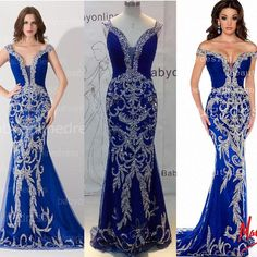 Show your best to all people even in the evening and then get  Evening Dresses 2016 Luxury Designer Prom Dress Off the Shoulder Crystal Sequined Bling Royal Blue Tulle Mermaid Formal Pageant Gowns 81891P in one-stopos and choose wholesale evenning dresses,size 22 evening dresses and black gowns on DHgate.com.