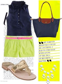 """""""if it isn't neon it can't be on!"""" by sarawalters-1 on Polyvore"""