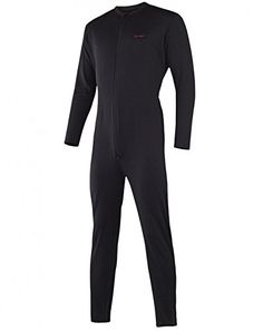 3a8b4f253b Terramar Mens Military Fleece Stretch Comfort Zip union suit Black Medium  3234    Want additional info  Click on the image.