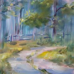"""Daily Paintworks - """"Country Road - 212"""" - Original Fine Art for Sale - © Laura  Buxo"""