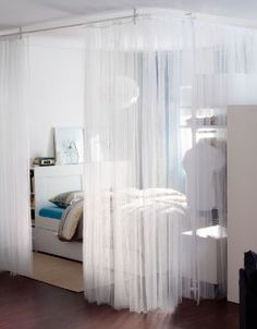 LILL curtains used as room divider