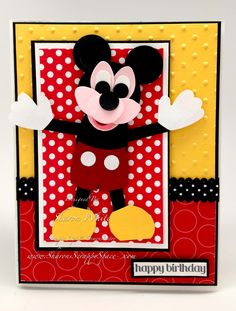 Love this!! Mickey Punch Art Birthday Card!