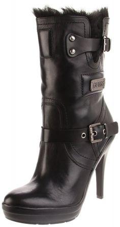Women's #Fashion #Shoes: Guess Women's Benny Platform Black #Boots: Boot