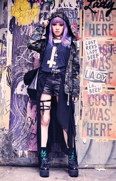 † pastel goth styles † | via Tumblr
