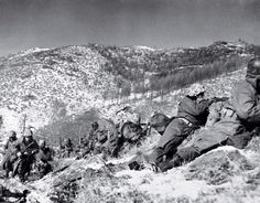 1st Marine Division, 1950, Chosin Reservoir Marines fight a grueling battle in a retreat with over 100,000 Chinese soldiers in North Korea and survive. Forces not only broke out of the encircling Chinese army's trap but inflicted crippling losses to the Chinese.