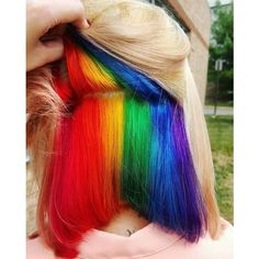 Rainbow Hair ❤ liked on Polyvore featuring accessories and hair accessories