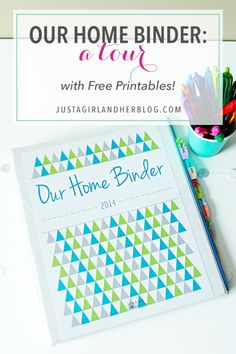 This post is packed with free printables to help you create your own beautiful and organized home binder! Pop over to the post snag them all!