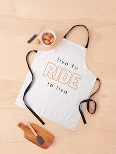 Live to ride. Ride to live. • Millions of unique designs by independent artists. Find your thing. Apron Designs, Cotton Tote Bags, Print Design, Finding Yourself, Artists, Live, Unique, Things To Sell, Decor