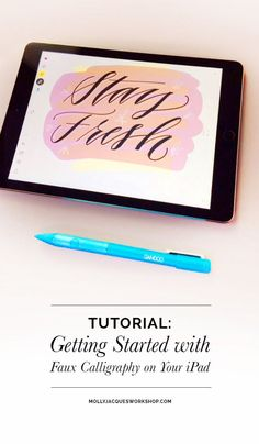 #mollyjacquesworkshop Faux Calligraphy Tutorial