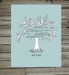 Custom Family Tree {Outlined} by StemandLeaf on Etsy, $15.00
