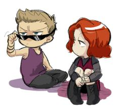 Clint is not impressed. Natasha probably isn't, either.
