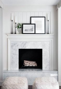 10 Ingenious Tricks: Livingroom Remodel With Fireplace living room remodel before and after open concept.Living Room Remodel With Fireplace Interior Design living room remodel before and after open concept.Living Room Remodel Before And After Columns. Fireplace Surrounds, Fireplace Design, Fireplace Ideas, Fireplace Decorations, Modern Fireplace Decor, Mantles Decor, Mantel Ideas, White Fireplace Mantels, Modern Mantle