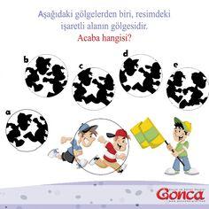 Resimde işaretli olan alanın gölgesini bulabilir misin? #goncadergim #cocukdergisi #bayrak #yaris #golge #oyun