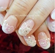 french-3d-pearl-flower-white-base-nails-design