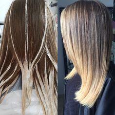 Balyage Long Hair, Current Hair Trends, Hair Dye Tips, Hair Color Formulas, Hair Color Techniques, Ombré Hair, Beautiful Hair Color, Hair Affair, Hair Painting