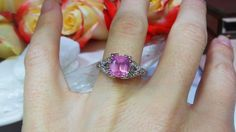 Pink spinel in a vintage-inspired setting by David Klass Jewelry.