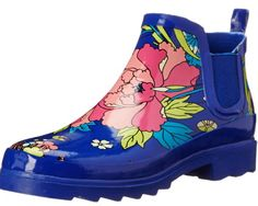 Royal Flower Power sounds like a terrific Women's Funky Rain Boot. Style and comfort comes in the short rain boots and these are perfect for all year long.