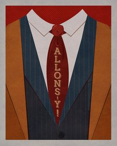 """Doctor Who print - the Tenth Doctor - """"Allons-y"""" by thejoyfulfox"""