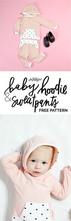 DIY BABY HOODIE + SWEATS | French Terry Baby Hoodie + Track Pants Pattern | diy baby clothing | handmade baby clothing | handmade kids clothes | sewing kids clothing | sewing tips and tricks | sewing tutorials | how to sew a baby hoodie | baby hoodie and pants outfit || see kate sew #sewingtips #sewingtututorial #diybabyclothing