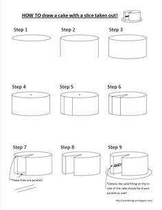 Draw a cake