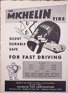 1956 Michelin Tire Jaguar