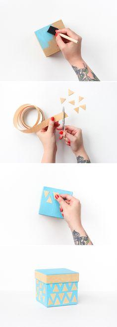 DIY Gift Box #marthastewartcrafts #12monthsofmartha