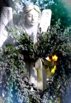 Photo by Anita Russell In Memorium, Project Site, Angel Statues, Photo A Day, Christmas Wreaths, Holiday Decor, Outdoor Decor, Pictures, Photography