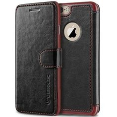 "iPhone 6 Case, Verus [Limited Edition] iPhone 6 4.7"" Wallet Case [Layered Dandy Dairy] [Black] - Premium Soft PU Leather Wallet Cover - Verizon, AT&T, Sprint, T-Mobile, International, and Unlocked - Leather Case for Apple iPhone 6 4.7 Inch Late 2014 Model"