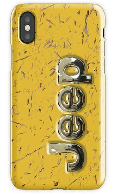 muddy yellow Jeep with chrome typograph iPhone 4, 5, 6, 7, 8, X Cases & Skins #Case #CellPhone #iPhonecase #hardcase #retro #rustic #abstract #vehicle #car #van #minivans #bus #minibus  #suv #rangerover #landrover #4x4 #offroad #jeep #indian #native #tattoo #aztec #olmec #mayan #mandalas