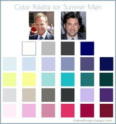 color palette for Summer seasonal color men