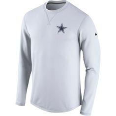 Men s Dallas Cowboys Nike Navy Sideline Circuit Performance Sweatshirt e42ce8a32