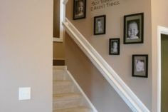 thinking about this for our stairway, adding family pictures!