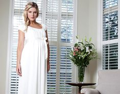Claudia Maternity Gown Long (Ivory) - Maternity Wedding Dresses, Evening Wear and Party Clothes by Tiffany Rose