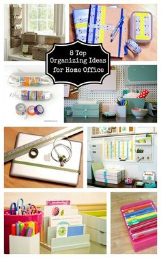 """8 DIY Organizing Tips for Home Office 