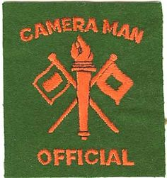 """U.S. Army Signal Corps """"Cameraman Official"""" felt patch worn my Signal Photographic Companies and the Army Pictorial Service. Worn usually on the lower left sleeve."""