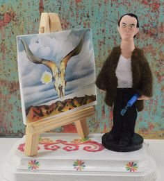 Georgia O' Keefe Doll Artist Miniature  by UneekDollDesigns