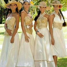 My bridesmaid dresses for sure tahitian style