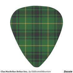Clan MacArthur Arthur Sounds of Scotland Tartan Guitar Pick
