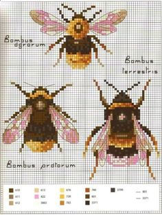 Bee Needlepoint Pattern – Bastelarbeiten – sewing - New Ideas Bee Embroidery, Cross Stitch Embroidery, Embroidery Patterns, Cross Stitch Charts, Cross Stitch Designs, Cross Stitch Patterns, Diy Broderie, Needlepoint Designs, Needlepoint Stitches