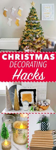 10 Christmas Decorating Hack + Full Room Tour! ~ @karenkavett