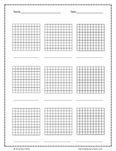 "Math Grid Paper Template Captivating Wizer Blended Worksheet ""adding And Subtracting Decimals ."