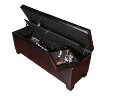 Gun Concealment Furniture Bench Locking Storage For Bedroom Ottomans With Style #AmericanFurnitureClassics #Modern