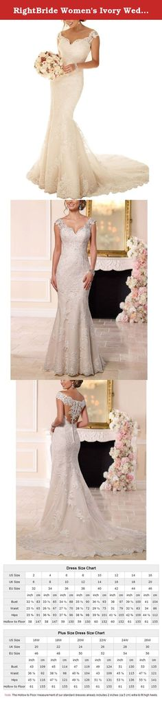 RightBride Women's Ivory Wedding Dresses Mermaid Off Shoulder Sweetheart Bridal Wedding Gown Lace Wedding Dresses for Bride 2017 Size 14. RightBride Women's Ivory Wedding Dresses Mermaid Off Shoulder Sweetheart Lace Wedding Dress for Bride 2017 Size 14 RightBride, Just as the store name indicates, is always dedicated to be the Right online shop on Amazon for wedding dresses for bride, So quality is our first priority. 1.With high quality fabrics, beads, pearls, crystals and threads...