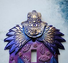 Winged Hamsa light switch cover switch plate by TMBakerDesigns, $17.00