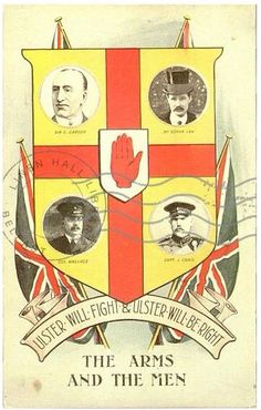 Poster encouraging Ulster unionists to join the British army, 1915 Local History, British History, Joining The British Army, Orange Order, Union Flags, Kingdom Of Great Britain, The Covenant, Belfast, Northern Ireland