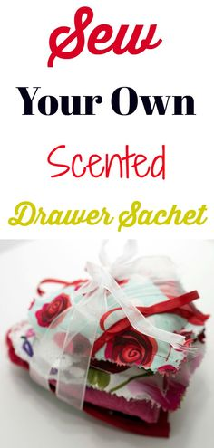 How to make your own DIY scented heart sachet.  #sewingtutorial #sewing #sachet